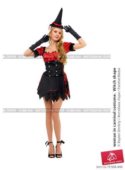Купить «woman in carnival costume.  Witch shape», фото № 9568444, снято 16 июля 2019 г. (c) PantherMedia / Фотобанк Лори
