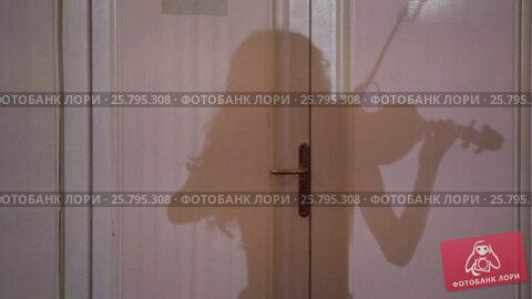 Купить «Woman playing violin», видеоролик № 25795308, снято 16 марта 2016 г. (c) Алексей Макаров / Фотобанк Лори