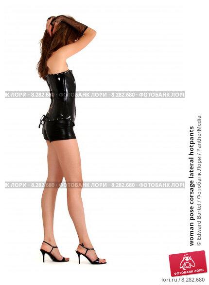 Купить «woman pose corsage lateral hotpants», фото № 8282680, снято 24 февраля 2019 г. (c) PantherMedia / Фотобанк Лори