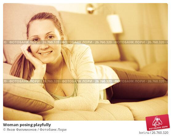 Купить «Woman posing playfully», фото № 26760320, снято 21 марта 2017 г. (c) Яков Филимонов / Фотобанк Лори