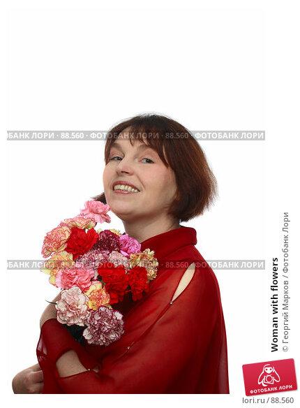 Woman with flowers, фото № 88560, снято 28 января 2007 г. (c) Георгий Марков / Фотобанк Лори