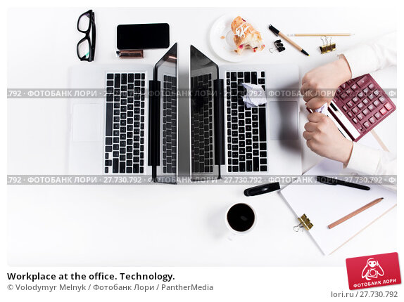 Купить «Workplace at the office. Technology.», фото № 27730792, снято 16 июля 2019 г. (c) PantherMedia / Фотобанк Лори