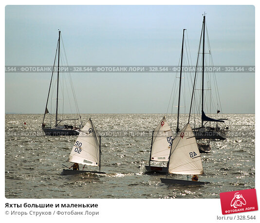 Купить «Яхты большие и маленькие», фото № 328544, снято 20 июня 2008 г. (c) Игорь Струков / Фотобанк Лори