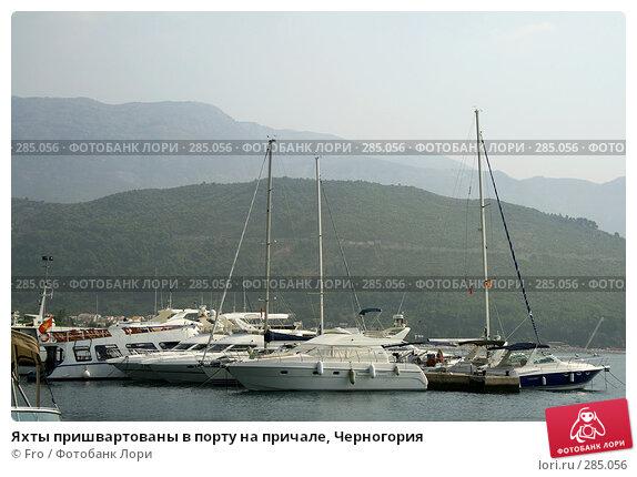 Яхты пришвартованы в порту на причале, Черногория, фото № 285056, снято 26 августа 2007 г. (c) Fro / Фотобанк Лори