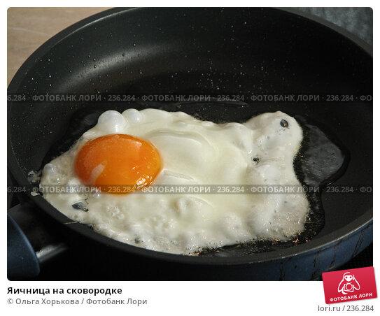 Купить «Яичница на сковородке», фото № 236284, снято 13 сентября 2007 г. (c) Ольга Хорькова / Фотобанк Лори