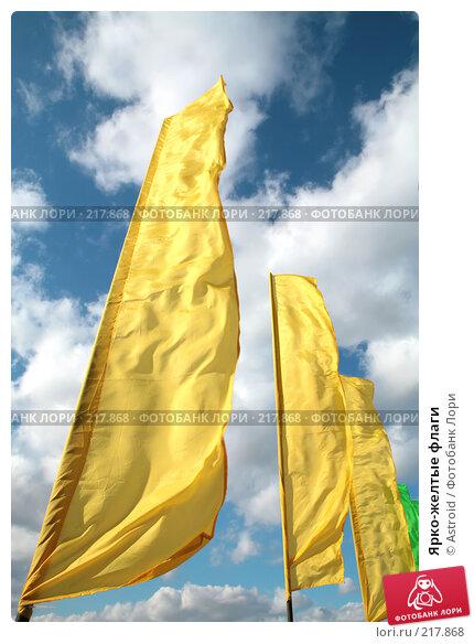 Ярко-желтые флаги, фото № 217868, снято 6 марта 2008 г. (c) Astroid / Фотобанк Лори