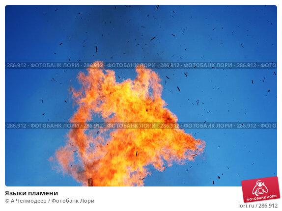 Языки пламени, фото № 286912, снято 18 февраля 2007 г. (c) A Челмодеев / Фотобанк Лори
