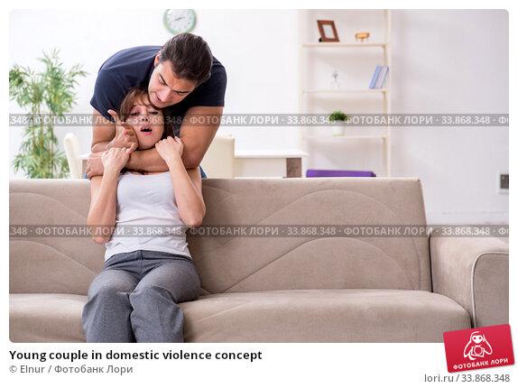 Купить «Young couple in domestic violence concept», фото № 33868348, снято 7 ноября 2019 г. (c) Elnur / Фотобанк Лори