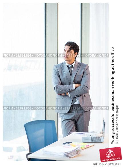 Купить «Young successful businessman working at the office», фото № 29891836, снято 6 августа 2018 г. (c) Elnur / Фотобанк Лори