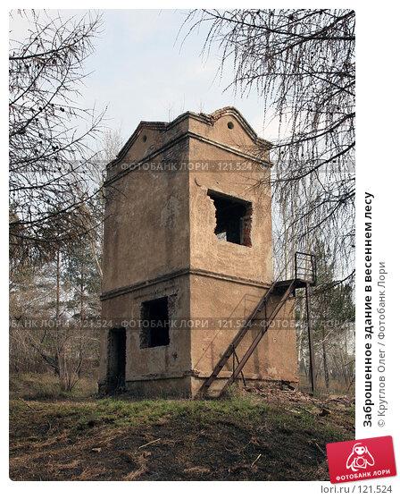 Заброшенное здание в весеннем лесу, фото № 121524, снято 25 апреля 2007 г. (c) Круглов Олег / Фотобанк Лори