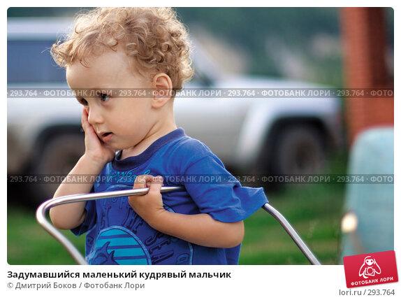 Задумавшийся маленький кудрявый мальчик, фото № 293764, снято 15 июля 2006 г. (c) Дмитрий Боков / Фотобанк Лори