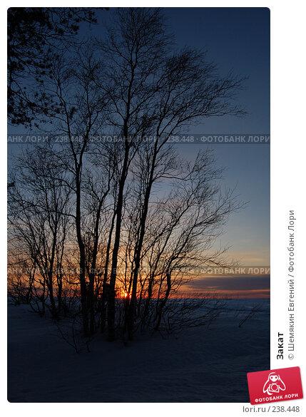 Закат, фото № 238448, снято 30 мая 2017 г. (c) Шемякин Евгений / Фотобанк Лори