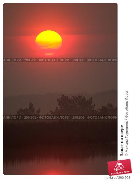 Закат на озере, фото № 290908, снято 28 апреля 2006 г. (c) Максим Горпенюк / Фотобанк Лори