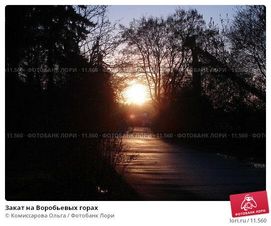 Закат на Воробьевых горах, фото № 11560, снято 7 мая 2006 г. (c) Комиссарова Ольга / Фотобанк Лори