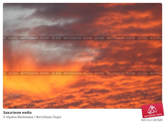 Закатное небо, эксклюзивное фото № 24920, снято 2 декабря 2005 г. (c) Ирина Мойсеева / Фотобанк Лори