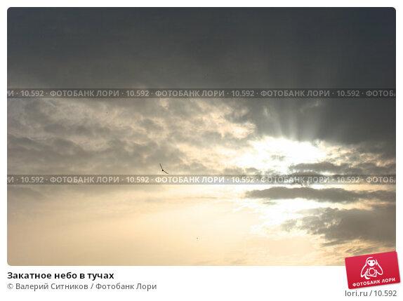 Купить «Закатное небо в тучах», фото № 10592, снято 23 апреля 2018 г. (c) Валерий Ситников / Фотобанк Лори