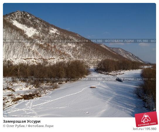 Замерзшая Уссури, фото № 195980, снято 31 января 2008 г. (c) Олег Рубик / Фотобанк Лори