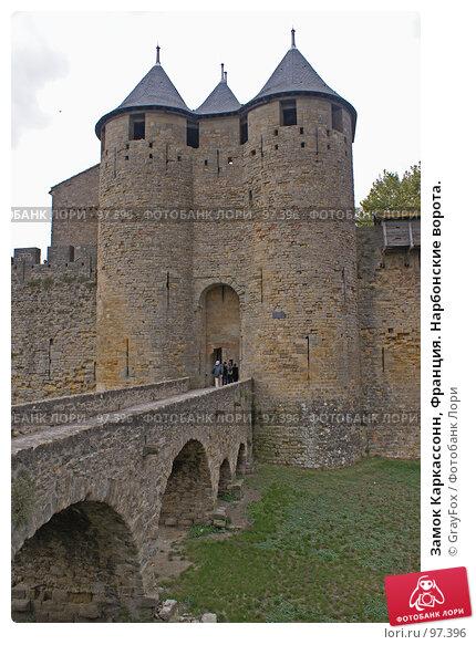 Замок Каркассонн, Франция. Нарбонские ворота., фото № 97396, снято 4 октября 2007 г. (c) GrayFox / Фотобанк Лори