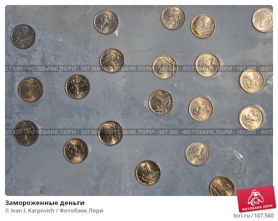 Замороженные деньги, фото № 107560, снято 3 февраля 2007 г. (c) Ivan I. Karpovich / Фотобанк Лори
