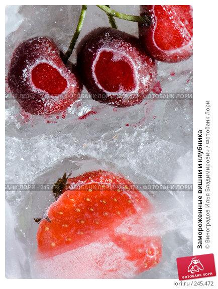 Замороженные вишни и клубника, фото № 245472, снято 7 декабря 2007 г. (c) Виноградов Илья Владимирович / Фотобанк Лори
