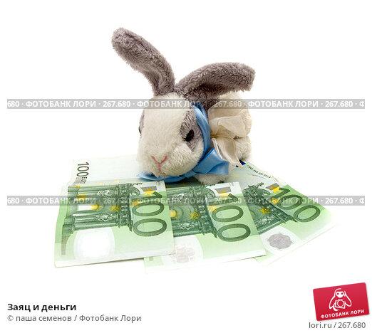 Заяц и деньги, фото № 267680, снято 25 марта 2008 г. (c) паша семенов / Фотобанк Лори