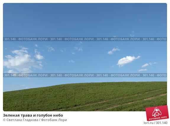 Зеленая трава и голубое небо, фото № 301140, снято 27 апреля 2008 г. (c) Cветлана Гладкова / Фотобанк Лори