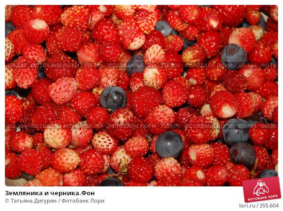 Купить «Земляника и черника.Фон», фото № 355604, снято 12 июля 2008 г. (c) Татьяна Дигурян / Фотобанк Лори