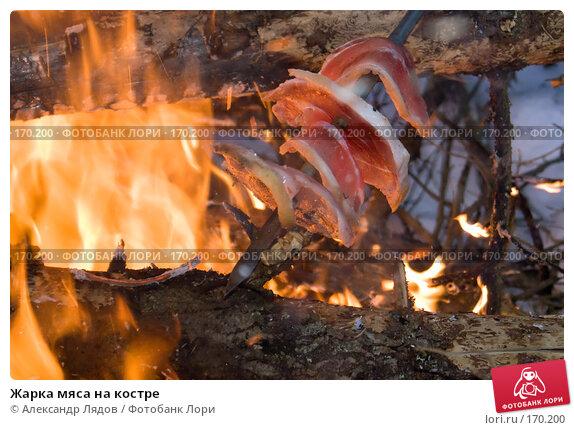 Жарка мяса на костре, фото № 170200, снято 4 января 2008 г. (c) Александр Лядов / Фотобанк Лори