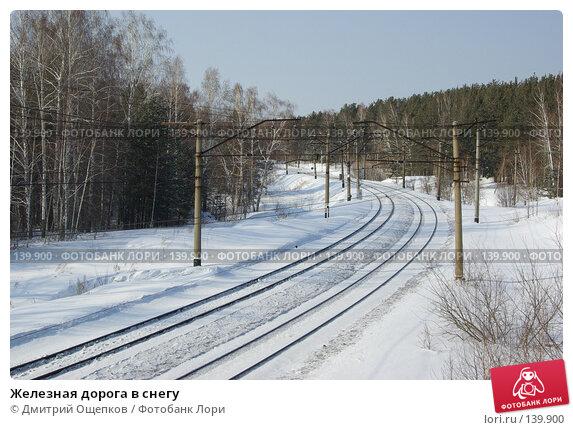 Железная дорога в снегу, фото № 139900, снято 11 марта 2007 г. (c) Дмитрий Ощепков / Фотобанк Лори