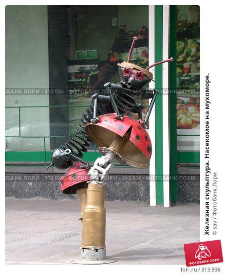 Железная скульптура. Насекомое на мухоморе., фото № 313936, снято 17 июля 2005 г. (c) sav / Фотобанк Лори
