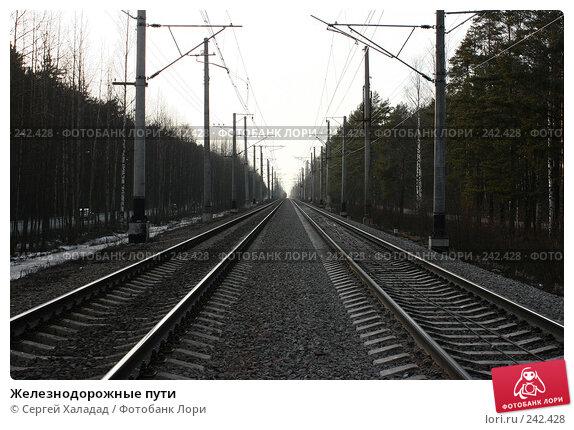 Железнодорожные пути, фото № 242428, снято 3 апреля 2008 г. (c) Сергей Халадад / Фотобанк Лори