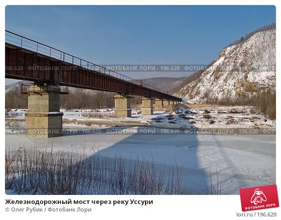 Железнодорожный мост через реку Уссури, фото № 196620, снято 31 января 2008 г. (c) Олег Рубик / Фотобанк Лори