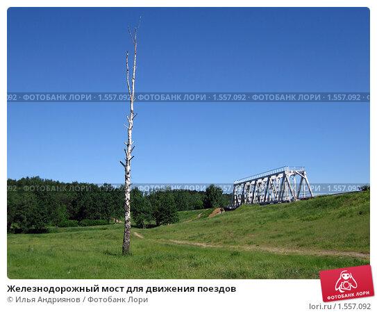 Купить «Железнодорожный мост для движения поездов», фото № 1557092, снято 2 июня 2007 г. (c) Илья Андриянов / Фотобанк Лори