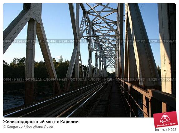 Купить «Железнодорожный мост в Карелии», фото № 9928, снято 9 сентября 2005 г. (c) Cangaroo / Фотобанк Лори