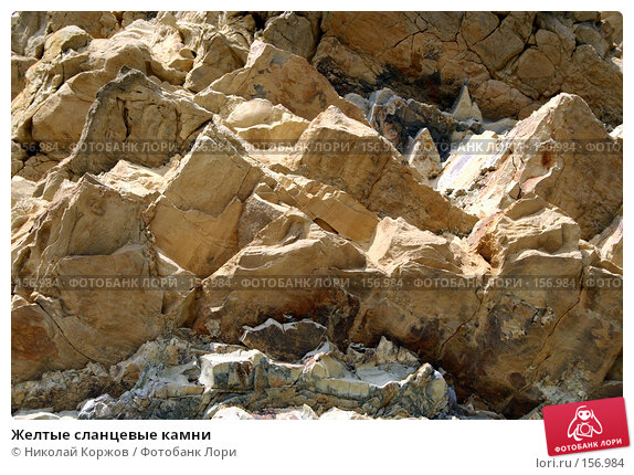 Купить «Желтые сланцевые камни», фото № 156984, снято 29 июля 2006 г. (c) Николай Коржов / Фотобанк Лори