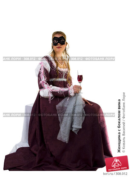 Женщина с бокалом вина, фото № 308012, снято 7 января 2006 г. (c) Коваль Василий / Фотобанк Лори