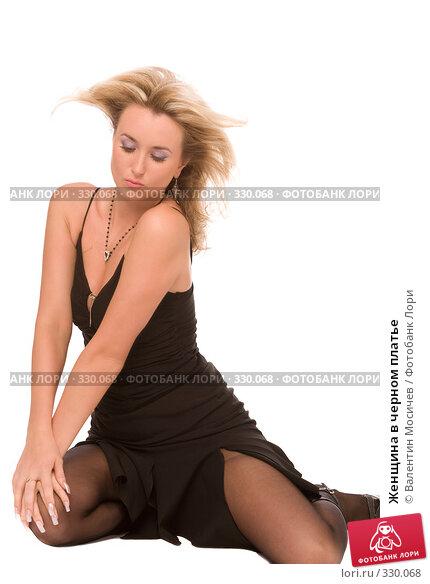 Женщина в черном платье, фото № 330068, снято 21 июня 2008 г. (c) Валентин Мосичев / Фотобанк Лори