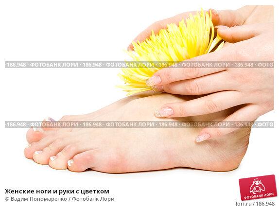 Женские ноги и руки с цветком, фото № 186948, снято 30 мая 2007 г. (c) Вадим Пономаренко / Фотобанк Лори