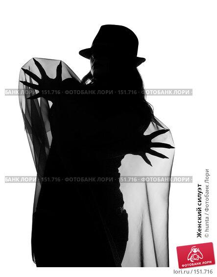 Купить «Женский силуэт», фото № 151716, снято 5 июля 2007 г. (c) hunta / Фотобанк Лори