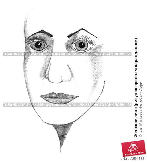 Женское лицо (рисунок простым карандашом), иллюстрация № 254568 (c) Василий Каргандюм / Фотобанк Лори