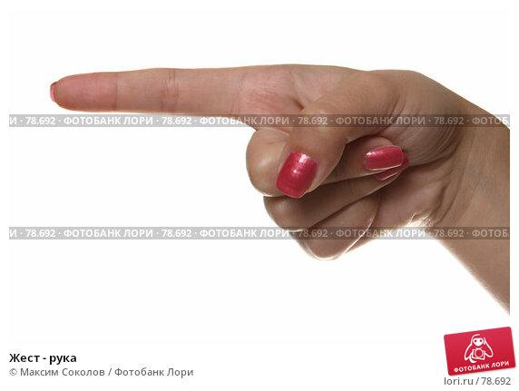 Жест - рука, фото № 78692, снято 30 июля 2007 г. (c) Максим Соколов / Фотобанк Лори