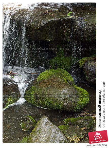 Купить «Живописный водопад», фото № 302904, снято 4 мая 2008 г. (c) Павел Савин / Фотобанк Лори