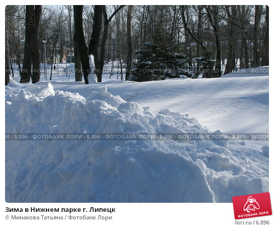 Зима в Нижнем парке г. Липецк, фото № 6896, снято 3 марта 2006 г. (c) Минакова Татьяна / Фотобанк Лори