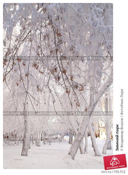 Купить «Зимний парк», фото № 155512, снято 23 января 2005 г. (c) Владимир Власов / Фотобанк Лори