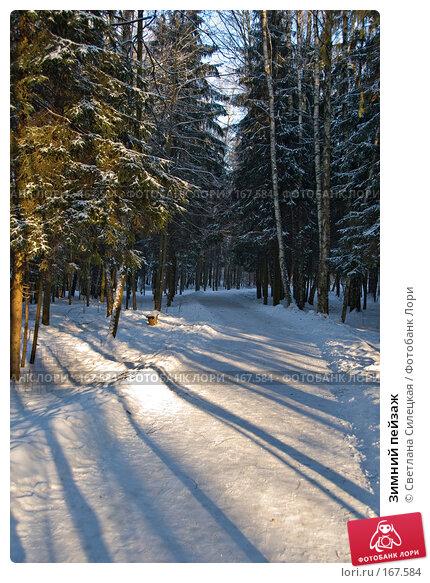 Зимний пейзаж, фото № 167584, снято 7 января 2008 г. (c) Светлана Силецкая / Фотобанк Лори