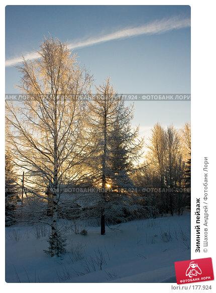 Зимний пейзаж, фото № 177924, снято 9 января 2008 г. (c) Шахов Андрей / Фотобанк Лори