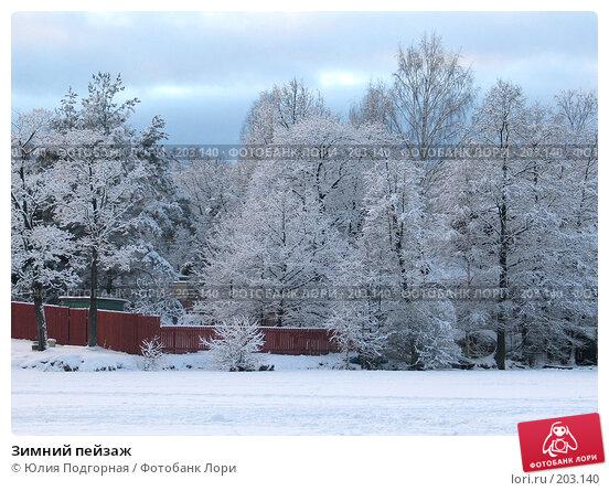Зимний пейзаж, фото № 203140, снято 27 января 2008 г. (c) Юлия Селезнева / Фотобанк Лори