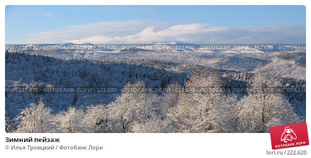 Зимний пейзаж, фото № 222620, снято 22 октября 2016 г. (c) Илья Троицкий / Фотобанк Лори