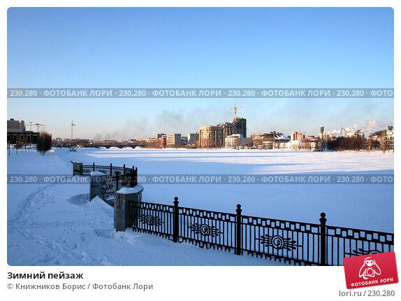Зимний пейзаж, фото № 230280, снято 30 марта 2017 г. (c) Книжников Борис / Фотобанк Лори