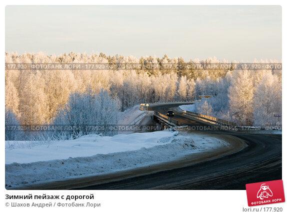 Зимний пейзаж с дорогой, фото № 177920, снято 9 января 2008 г. (c) Шахов Андрей / Фотобанк Лори